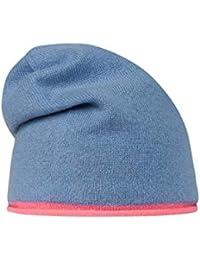 f6e2fc9a75731 CODELLO Damen Beanie Mütze aus Kaschmir mit Neonkante