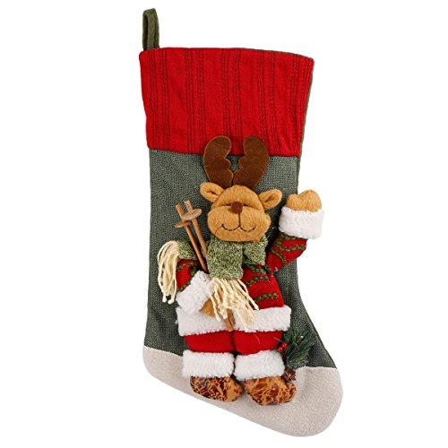 r Christmas Stockings 3D Cute Cartoon Reindeer Stocking ()