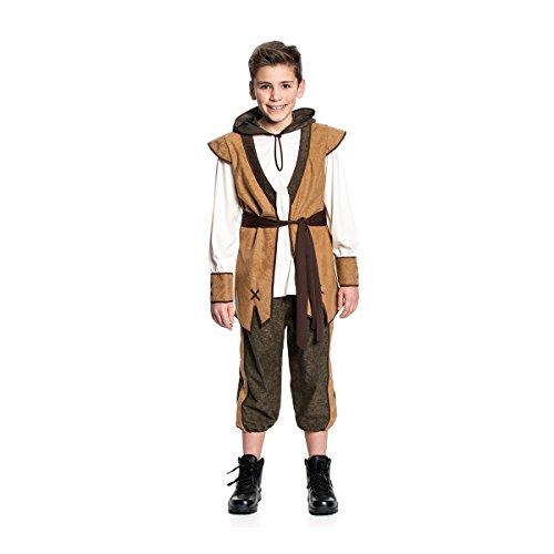 Kostümplanet® Robin Hood Kostüm Kinder Jungen Sheerwood Räuber Größe 128 (Dieb Spiel Kostüm)