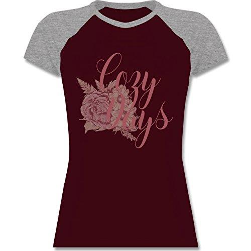 Shirtracer Statement Shirts - Cozy Days Lettering - Zweifarbiges  Baseballshirt/Raglan T-Shirt für
