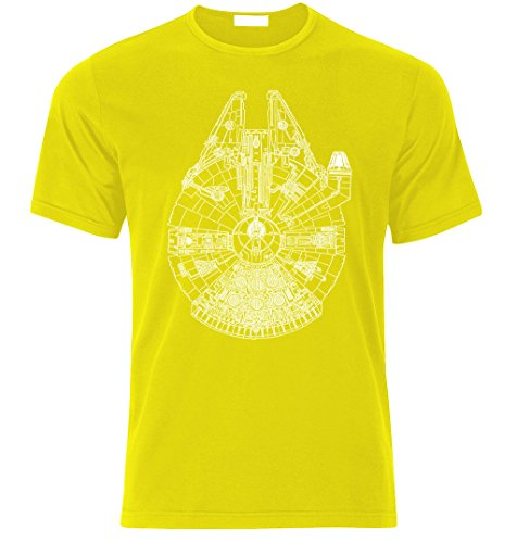 Millennium Falcon Raumschiff Wars Star Herren T-Shirt Falkon -