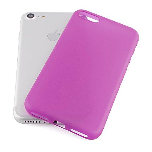 """QUADOCTA iPhone 7 (4,7"""") Ultra Slim Hülle - Schutzhülle - """"Tenuis"""" in Schwarz - Ultra dünnes Case - Leicht transparentes Cover kompatibel mit Apple iPhone7 mit Kameraschutz Pink"""