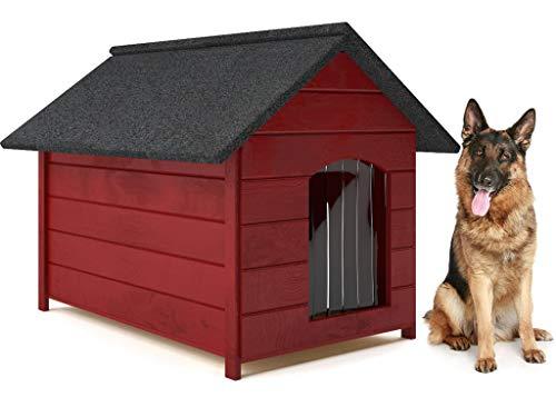 Hundehütte-Holz Hundehütte- große XL-viele Variante (burgund)