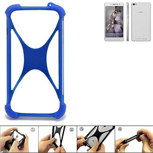K-S-Trade Bumper für Hisense L671 Silikon Schutz Hülle Handyhülle Silikoncase Softcase Cover Case Stoßschutz, blau (1x)