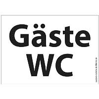 4x Gäste WC - Toiletten-Aufkleber (transparent)