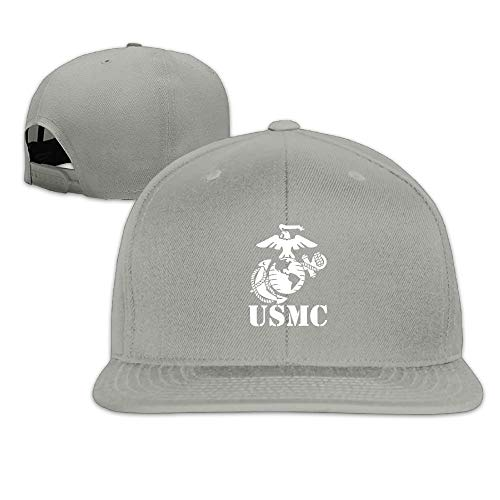 VTXINS USMC Marine Corps Snapback Hats for Men Cool Flat Bill Hats Fitted Hats for Men - Notre-dame-fitted Cap