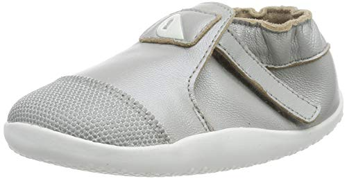 Bobux Unisex-Kinder Xplorer Origin Slip On Sneaker, Silber (Silver 1), 21 EU Ankle Strap Sneakers