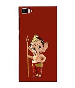 FUSON Designer Back Case Cover for Xiaomi Mi3 :: Xiaomi Mi 3 (God Ganesha Children Special Character Comic Serial)