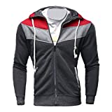 Männer Mantel Winter, Sonnena Herren Langarm Slim Fit Hoodie Sweatshirt Mantel Reißverschluss Jacke Casual Kapuzenpullover Kapuzenpulli Steppjacke Outwear