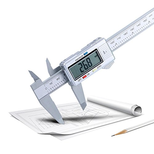 wuayi Electronic Digital Messschieber 150mm/15,2cm Elektronisches LCD-Karbonfaser Gauge Mikrometer -
