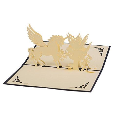 Cartes de vœux pop-up | gâteau, cœur, ville, mariés, poussette, arbre, bateau| Cartes cadeau haut de gamme pour de nombreuses...
