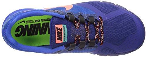 Nike Air Zoom Wildhorse 2 654442 Damen Laufschuhe Training Blau (Hyper Cobalt/Bright Mango/Deep Royal Blue)