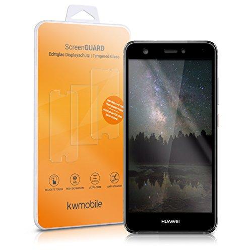 kwmobile Glas Bildschirmschutzfolie für Huawei Nova - Schutzglas Schutzfolie Bildschirmschutz Glasfolie in kristallklar & Rahmen in Schwarz