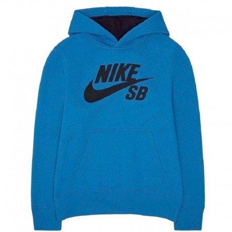 Nike SB Sweat À Capuche Enfant/Pull à capuche Par la tête Pull-over Clair Photo Bleu 8-15 An - Bleu Photo Clair, 10-12 Ans / 140-152 cm