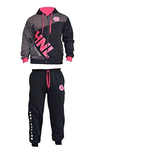 FATAL FASHION -  Tuta da ginnastica  - università - Uomo Black & Pink