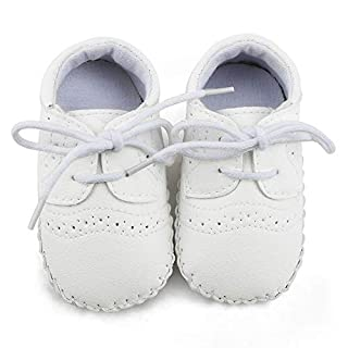 OOSAKU Baby Jungen Schuhe Schnürschuhe aus PU-Leder Säuglingskleinkind-Krippen-Mokassins