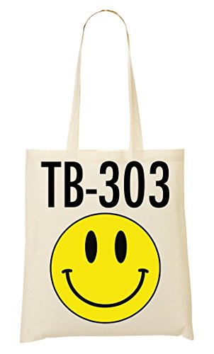 Brenos Design Roland TB 303 Acid Techno Smiley LSD Tragetasche Einkaufstasche