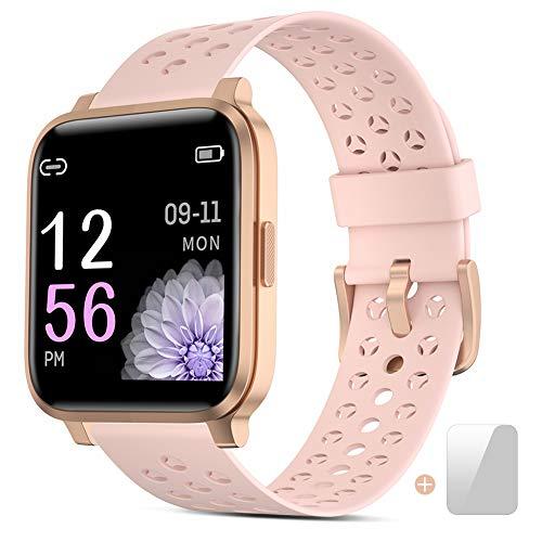 Oferta de Smartwatch, Reloj Inteligente Mujer Impermeable IP68 con Pulsómetro, Cronómetros,Calorías,Monitor de Sueño,Podómetro Pulsera Actividad Inteligentes Smart Watch Hombre Reloj Deportivo para Android iOS