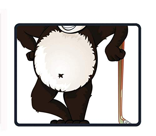 Hockey Panda 8.66 X 7.09 Inch Computer Mouse Pad with Neoprene Backing and Jersey Surface