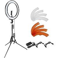 Neewer 18 Zoll dimmbares SMD LED Ringlicht Beleuchtung Set mit 200cm Ständer, Bluetooth-Empfänger, drehbarer Handy-Halter für Smartphone-Kamera-Portrait Make-up YouTube Video Aufnahme
