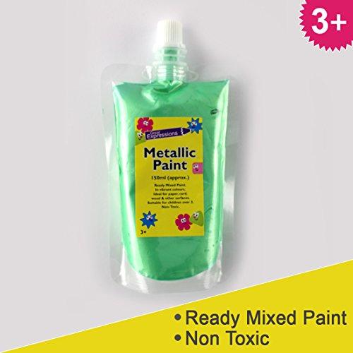 vernice-metallizzata-150ml-con-un-sacchetto-richiudibile-pronto-misti-colori-per-facile-da-usare