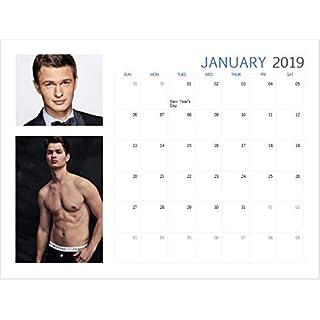 Ansel Elgort 2019 Unofficial Calendar, A4 Hanging Calendar, Actor, Sexy, Cute, Hot