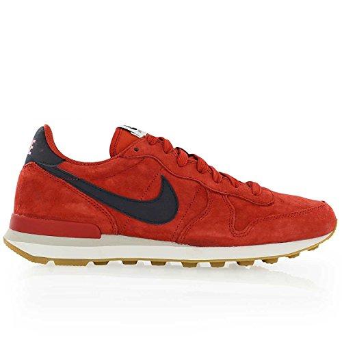 Nike Herren Sportschuhe Internationalist Leather mehrfarbig (Cinnabar/Dark Obsidian-Bright Crimson)