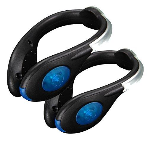 SUAVER Running LED Schuh Clip USB wiederaufladbar Schuh Sicherheit Clip Lichter LED Luminous Reflektierende Safety Gear für Laufen, Joggen, Walking Spinning oder Radfahren