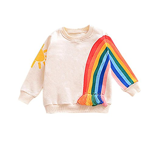 SHOBDW Girls Tops, Toddler Baby Boys Rainbow Warm Long Sleeve Tops Newborn Infant Autumn Outfits Clothes