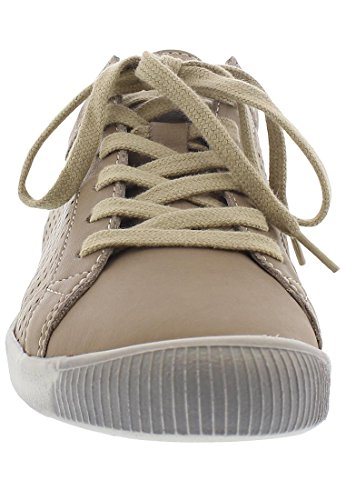 Softinos Damen Ica388sof Smooth Sneakers Taupe