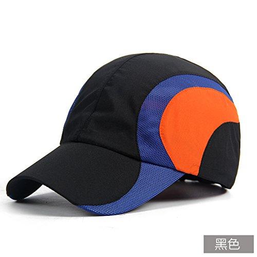 FQG*Mme WINTER HAT cap outdoor parasol à séchage rapide chapeaux loisirs baseball cap , noir mâle Black