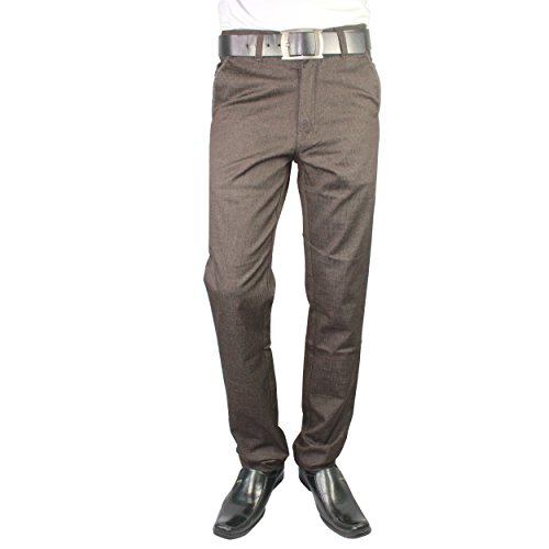 Heartly Men's Stylist Best Slim Fit Regular Cotton Formal Trousers Pant - Coffee Brown  available at amazon for Rs.599
