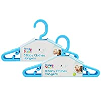 Baby Coat Hangers Small Clothes Hangers First Steps Pack of 16 Blue