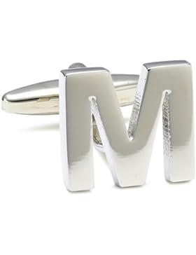 """Teroon Unisex-Manschettenknopf Buchstaben Initialen """"M"""" 608594"""