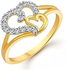 Meenaz Jewellery Valentine Heart Wedding Fancy Party wear Gold Rings For Girls Couples Women Girlfriend Ring Jewellery Set For Women -Finger ring -401