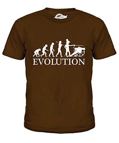 rieg Amerikanischer Bürgerkrieg Evolution Des Menschen Unisex Jungen Mädchen T Shirt, Größe 10 Jahre, Farbe Braun (Bürgerkrieg Mädchen)