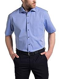 eterna Kurzarm Hemd Comfort Fit Chambray Unifarben