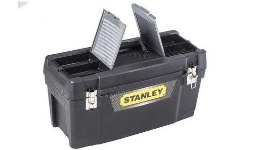 Stanley Werkzeugbox Metall Latch 25″, gummierte Metallschließen, ergonomischer Komfortgriff, Organizer, 1-94-859 - 2