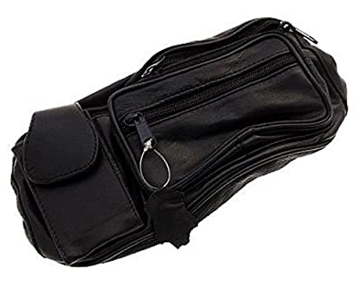 Oramics - sac banane en cuir véritable noir, sac tour de taille