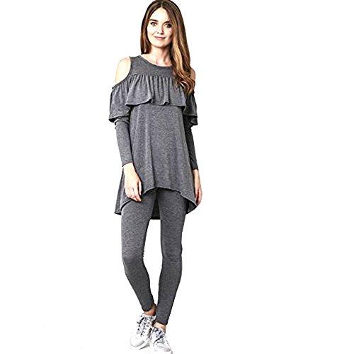 JAVOX Fashion's -  Tuta da ginnastica  - Donna Charcoal
