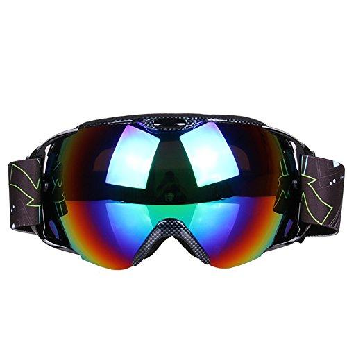 LYLhmj Skibrille Ski-Schutzbrillen Snowboard Brille Outdoor-Sport Snowboard-Schutzbrillen Anti-Nebel UV-Schutz winddicht Doppel-Objektiv Snowboardbrille für Motorrad Fahrrad Skifahren Skaten (Schwarz)