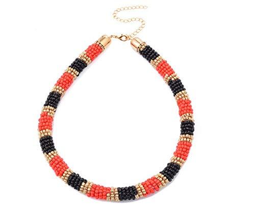 te Fashion Statement Short Leder Halsreif Minimalistischen Ethnischen Schmuck Bib Perlenkette Für Frauen ()