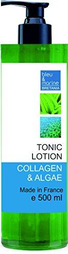 Tónico Piel Sensible - Loción Limpiadora Suave con Colágeno y Algas 500 ml - Loción Tónica Calmante Tonificante - Tratamiento hidratante y reductor de poros - Todo Tipo de Piel y Piel Sensible