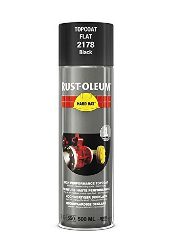 Buy Rust-Oleum Industrial Matt Black Hard Hat 2178 Aerosol Spray 500ml (12 Pack)