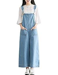 0e47429bf351 Sobrisah Women Regular Fit Denim Dungarees Long Overalls Jumpsuit Playsuit  Jeans Trousers
