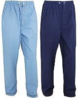 Mens Long Trouser Nightwear/Pyjama Bottoms (Pack Of 2)