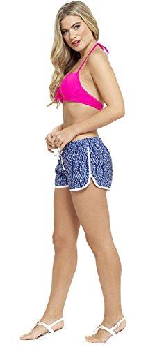 Damen Shorts, Baumwolle, bedruckt, Strand Blau