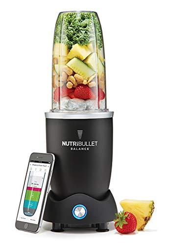 NUTRIBULLET Balance 1200 Watt - Standmixer verbunden - Patentierte Zyklon-Technologie - Entsafter - Healthy-Essen, Kunststoff, schwarz