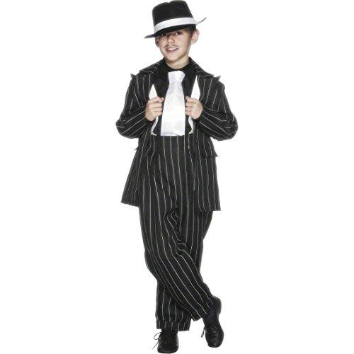 Kostüm Jahre 40er - Amakando Zoot Suit Kinderkostüm Gangster Outfit Kinder 158 cm Al Capone Kostüm 30er Jahre Anzug 40er Style Mafiakostüm Jungen Kinderfasching