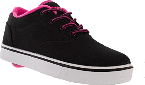 Heelys Launch, Sneakers basses fille Noir (Black / Neon Pink / White)